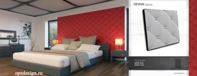 3D панель Capito фото в интерьере