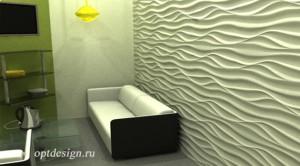 Ресепшн - 3Д панели в интерьере