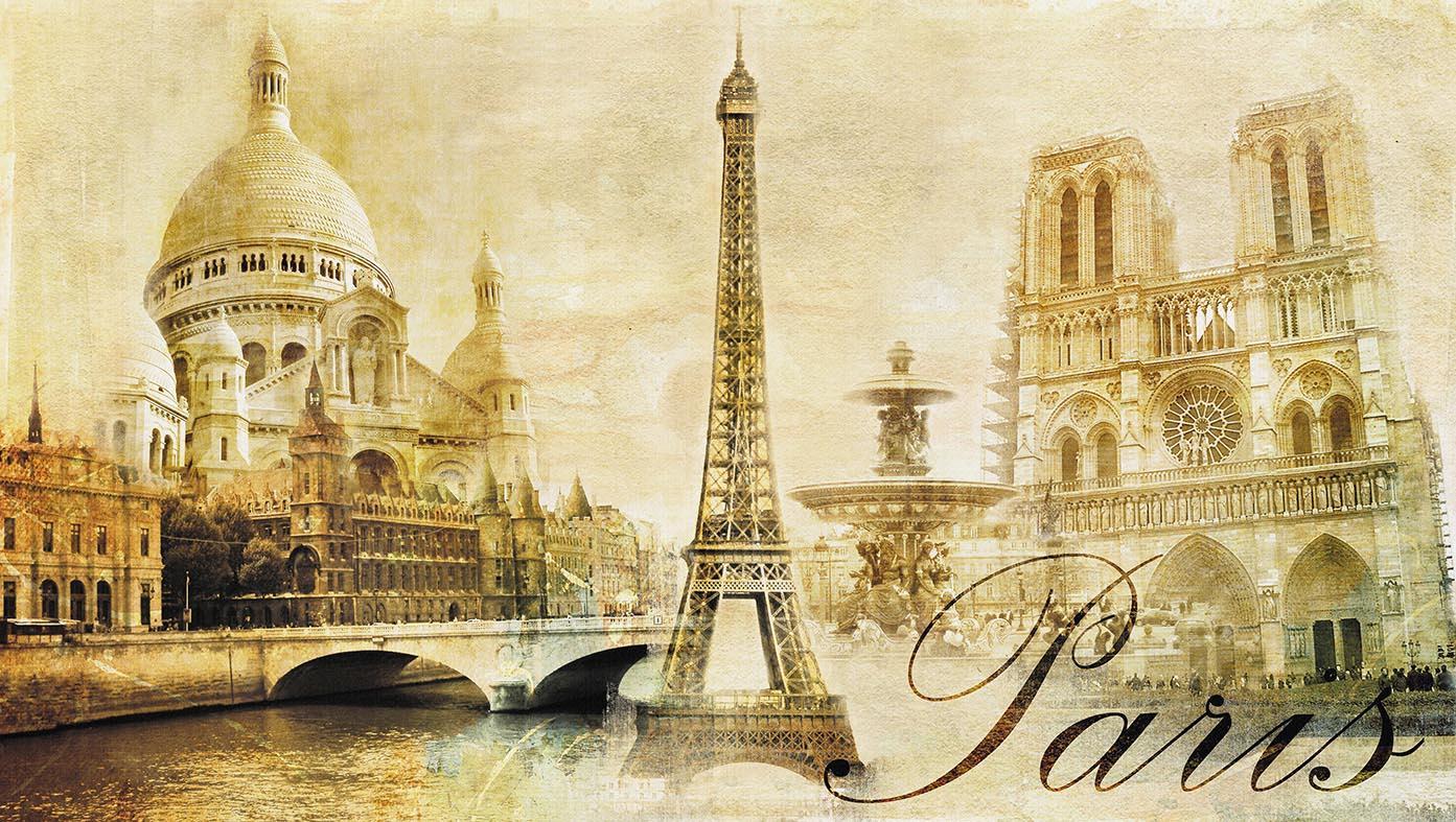 Старинные открытки с парижем